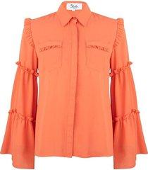 blouse met ruffles