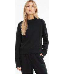 infuse sweater met ronde hals dames, zwart, maat xs | puma