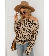sudadera leopard manga larga