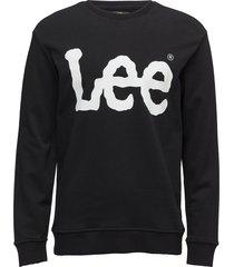 logo sws sweat-shirt trui zwart lee jeans