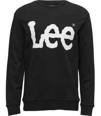 logo sws sweat-shirt trui zwart lee jeans