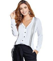 blusa adulto mp  para mujer -blanco.