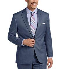 lauren by ralph lauren blue tic classic fit suit