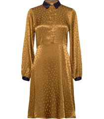 nubriallen dress knälång klänning gul nümph