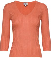sabina knitted tee t-shirts & tops knitted t-shirts/tops oranje twist & tango