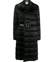 bottega veneta single-breasted padded coat - black