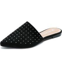 slipper negro via uno