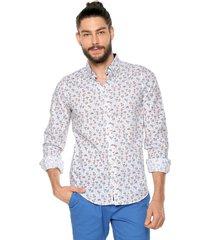 camisa blanco-azul-rojo ocean pacific