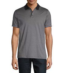 stripe-trim polo shirt