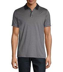 stripe-trim polo shirt