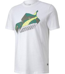 remera blanca puma sneaker inspired tee