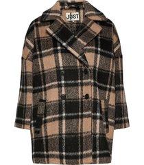 chelsea coat wollen jas lange jas zwart just female
