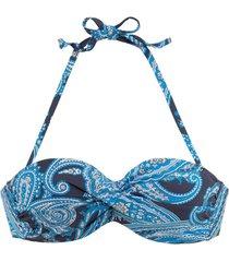 bikini lascana boho bandeau zwempak top met armatuur
