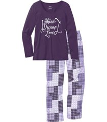 pigiama in cotone biologico (viola) - bpc bonprix collection