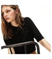 camiseta lacoste em raiom com decote amplo feminina