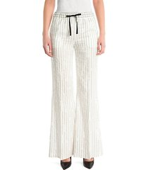 silk pinstripe pants