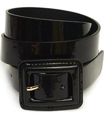 cinturón charol negro humana