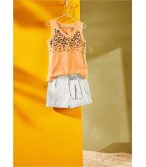 top con paillettes (arancione) - bodyflirt
