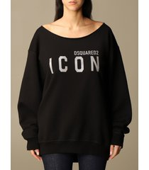 dsquared2 sweatshirt dsquared2 cotton sweatshirt with icon reflective logo