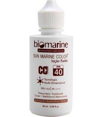 biomarine sunmarine fps40 cc cream loção fluída natural 60ml