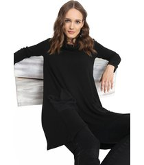 sweater privilege tejido negro - calce holgado