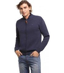 sweater zipper basico azul ferouch