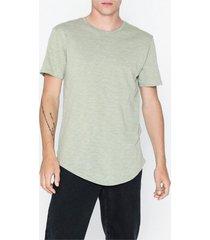 only & sons onspunk loose longy ss tee t-shirts & linnen grön