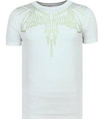 t-shirt korte mouw local fanatic eagle glitter - strakke t-shirt - 6359w -