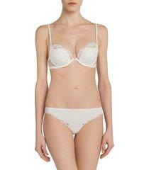 la perla women's rugiada padded push-up bra - natural - size 32 d
