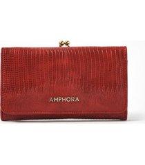 billetera roja amphora pelli