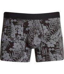 boxer floral color negro, talla l