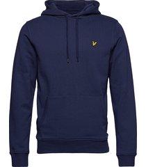 pullover hoodie hoodie trui blauw lyle & scott