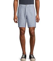 heathered linen shorts