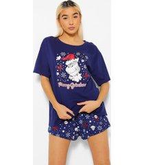 the grinch kerst pyjama set met shorts, navy
