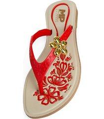 sandalias femenino rojo marketing personal 57832