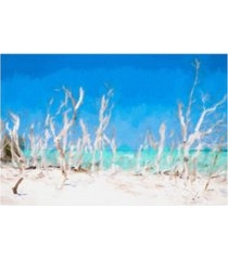 """philippe hugonnard white forest lining canvas art - 15.5"""" x 21"""""""
