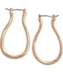 laundry by shelli segal gold-tone oval medium hoop earrings