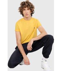 camiseta amarillo lacoste