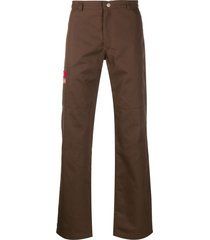 affix beach straight-leg trousers - brown
