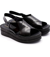sandalia negra valentia calzados brenda 05 raven charol