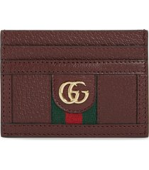 women's guccileather card case -