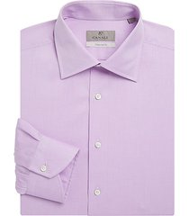 regular-fit mini jacquard cotton dress shirt