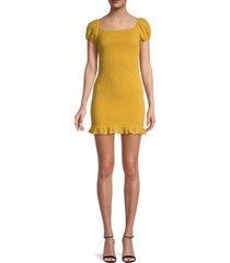 lost + wander women's daffodil mini dress - yellow - size s