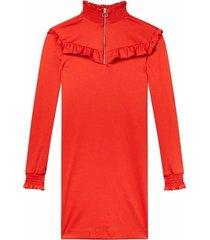 146618 smocked high neck jersey dress 2036