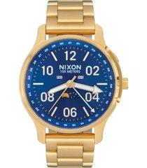 nixon men's ascender gold-tone stainless steel bracelet watch 42mm