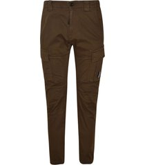 c.p. company cargo pocket detail fitted trousers