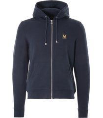 belstaff zip hoodie | dark ink | 71130632-80092