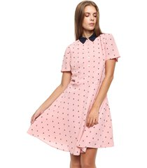 vestido rosa tommy hilfiger josie dress ss