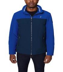 nautica men's colorblock stretch bomber jacket