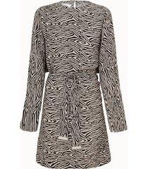nanushka abito hierro motivo zebra